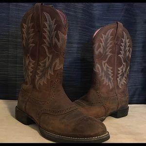Ariat Boots heritage stockman 7.5 B 10001605 )GUC